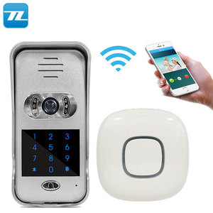 WIFI video intercom doorbell Night Vision/take photos/PIR detection/Remote unlock,P2P door bell Video and voice calls