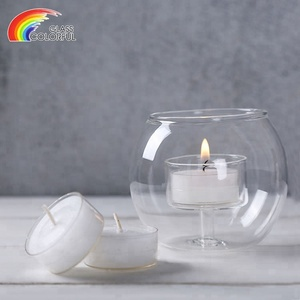 Round ball shape glass crystal candlestick