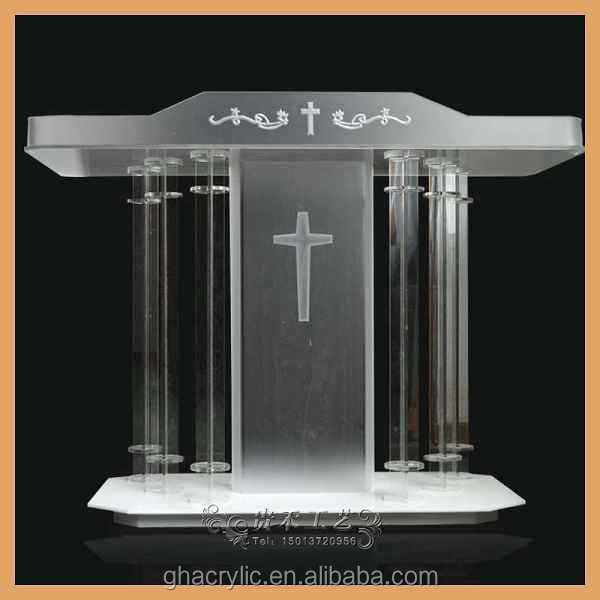 Lectern Podium,Modern Design Acrylic Lectern,Pulpits With Bible ...