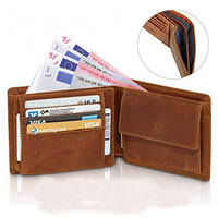Custom RFID Blocking Crazy Horse Leather Wallet Trifold Wallet for Men