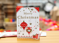 High quality 2017 OEM printed luxury christmas cards