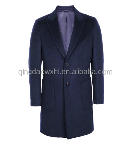 Bespoke Men single-breasted two buttons wool coat for gentry
