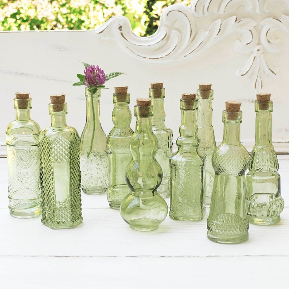 Cheap tall slim vases find tall slim vases deals on line at get quotations vintage glass bottles with corks bud vases assorted shapes 5 inch tall reviewsmspy