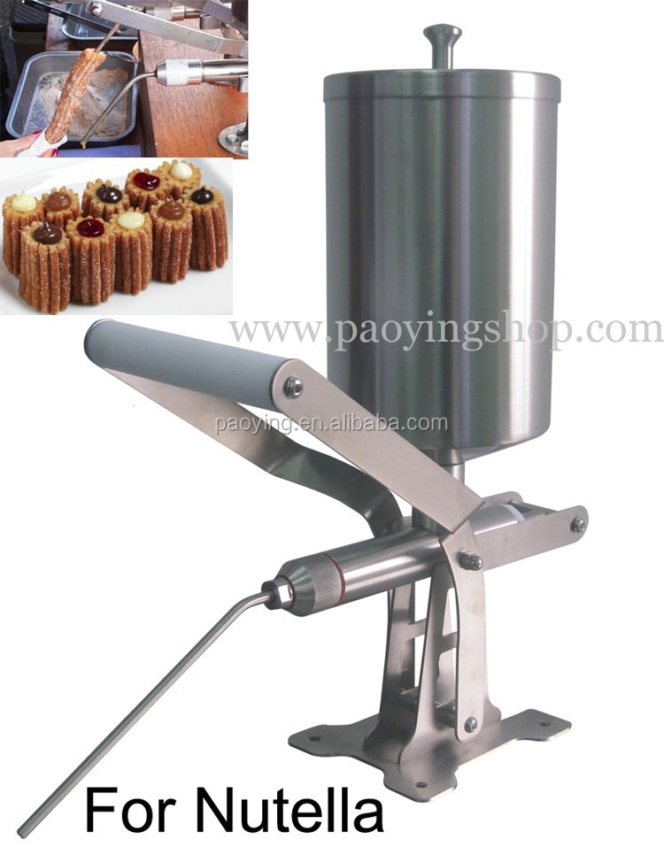 Stainless Steel 2.3L Manual Spainish Churros Nutella Filling <strong>Machine</strong>