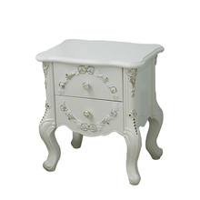 B1601 bedroom mirrored furntiure popular modern mirrored nightstand hospital bedside table night stand mirrored nightstand