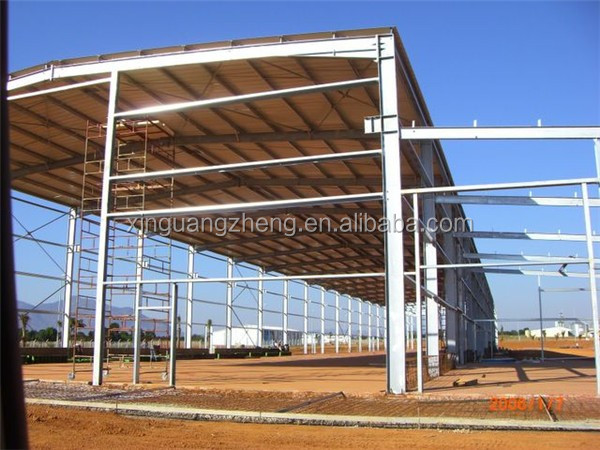 fast erection with mezzanin agricultural warehouse plant