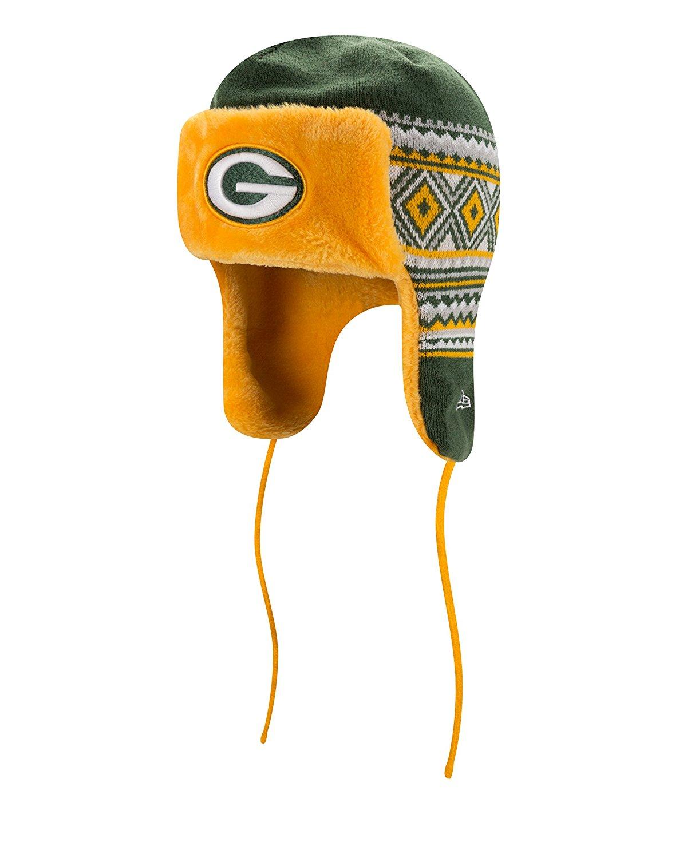 Men's New Era Green Bay Packers NFL 2016 Team Trim Trapper Hat