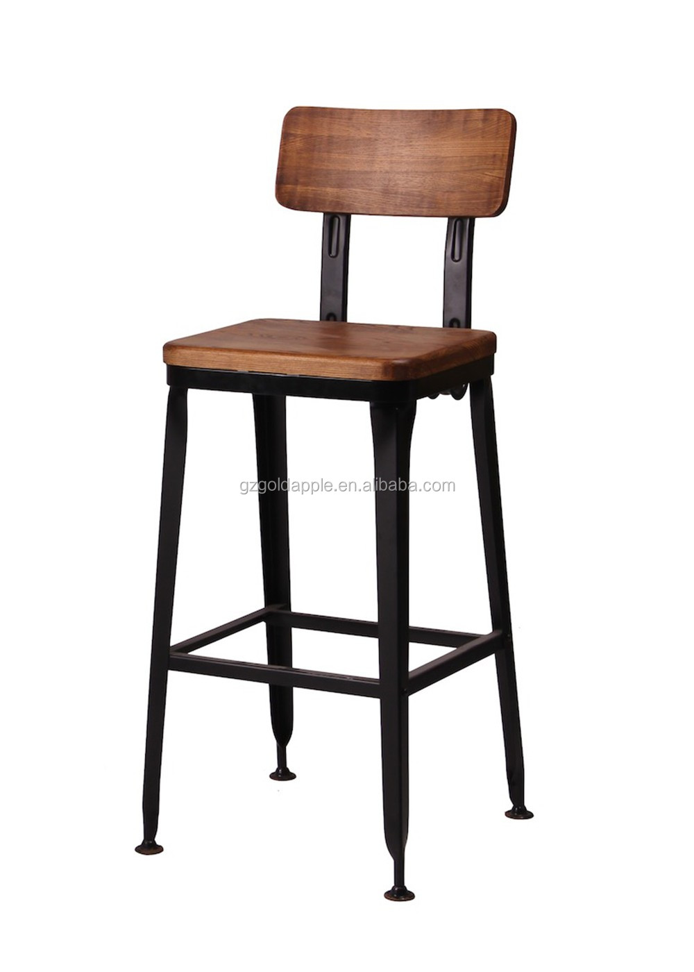 Replica industrial metal lyon high chair, vintage lyon bar chair ...