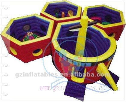 2012 (Qi Ling) giant commercial inflatable happy land toys