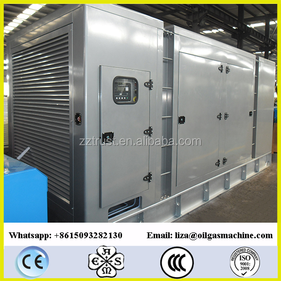 ZHENGZHOU TRUST Methane Gas Powered Generator Set 1500KW YUCHAI Engine Biogas/ Silent Natural Gas Generator Set