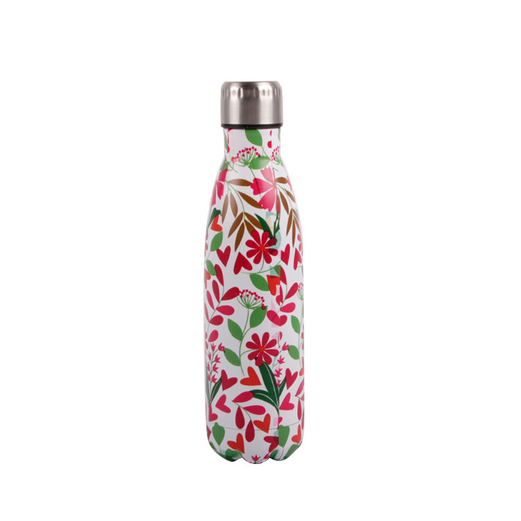 500ML cola shaped insulated stainless steel water bottle