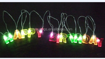 hot item letters happy birthday battery operated light christmas lights holiday light decoration