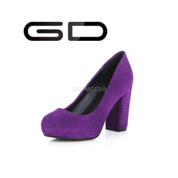 Gd Famous Brand Leather/ Pu High Heel Shoes Black Purple 7 Color ...
