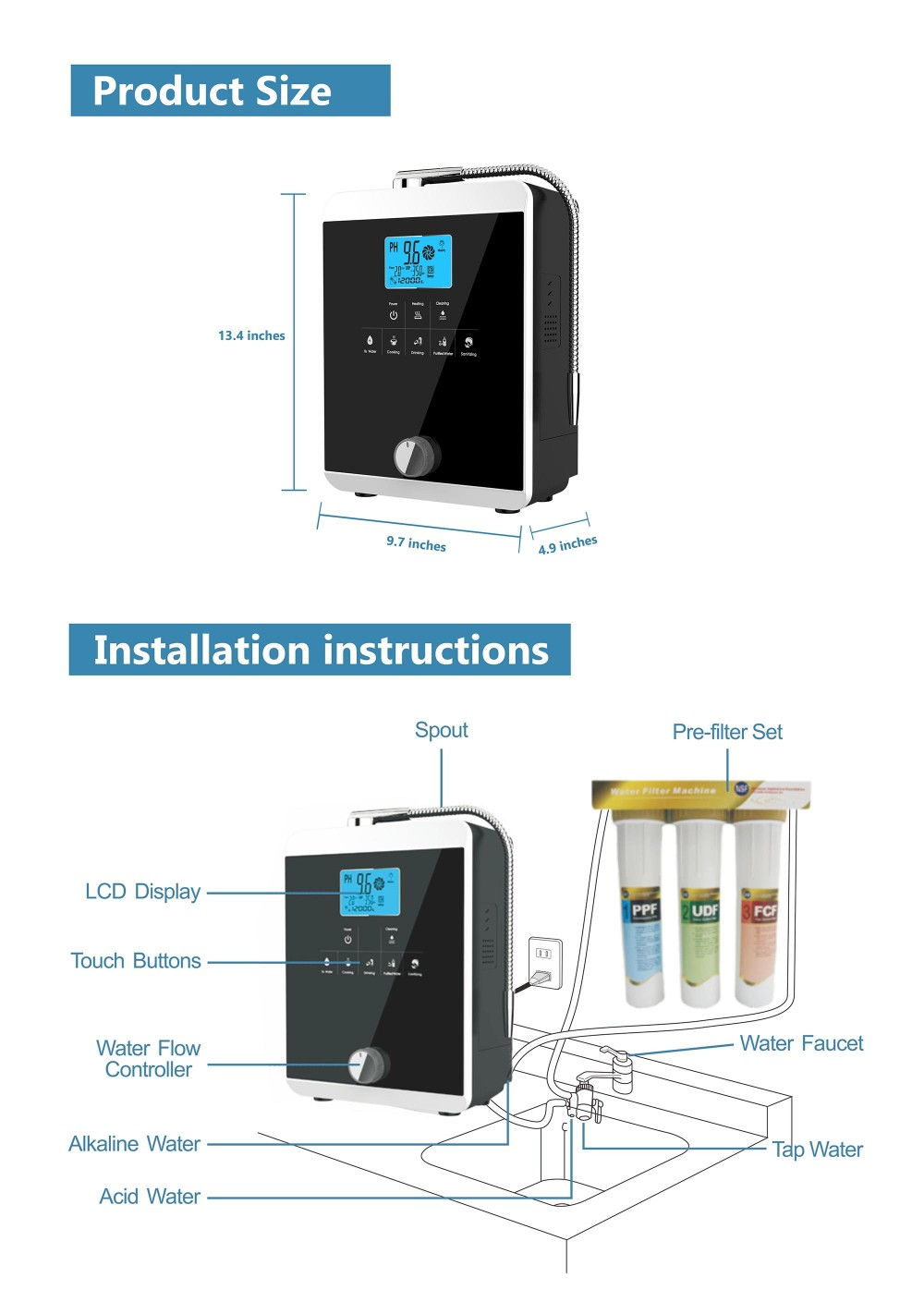 EHM top home alkaline water machine wholesale for home-3