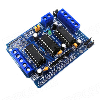 L293d 4 Channel Motor Control Shield Stepper Servo Motor Driver Expansion  Board For Arduino - Buy L293d Motor Driver,L293d Motor Driver Shield  Stepper