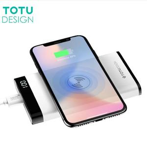 TOTU QI Wireless Charger 8000mah Power Bank LED Display 5V 2.1A Dual USB Ports External Battery Power bank
