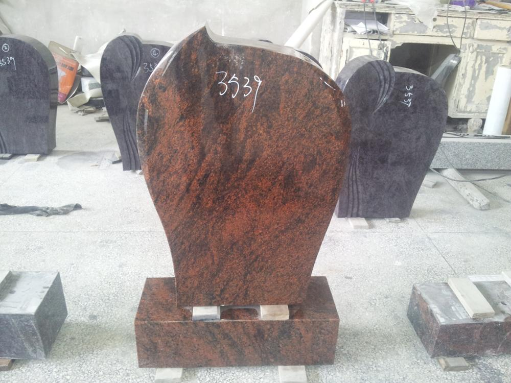 Granite Germany style red headstone/tombstone