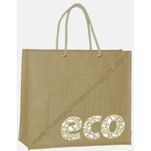 Custom Printed Jute Bag with Rope Handles