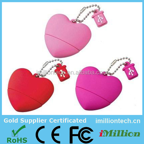 fashionable custom wedding gift pvc heart usb flash pen drive for photographers,USB drive wedding gifts trade show giveaways