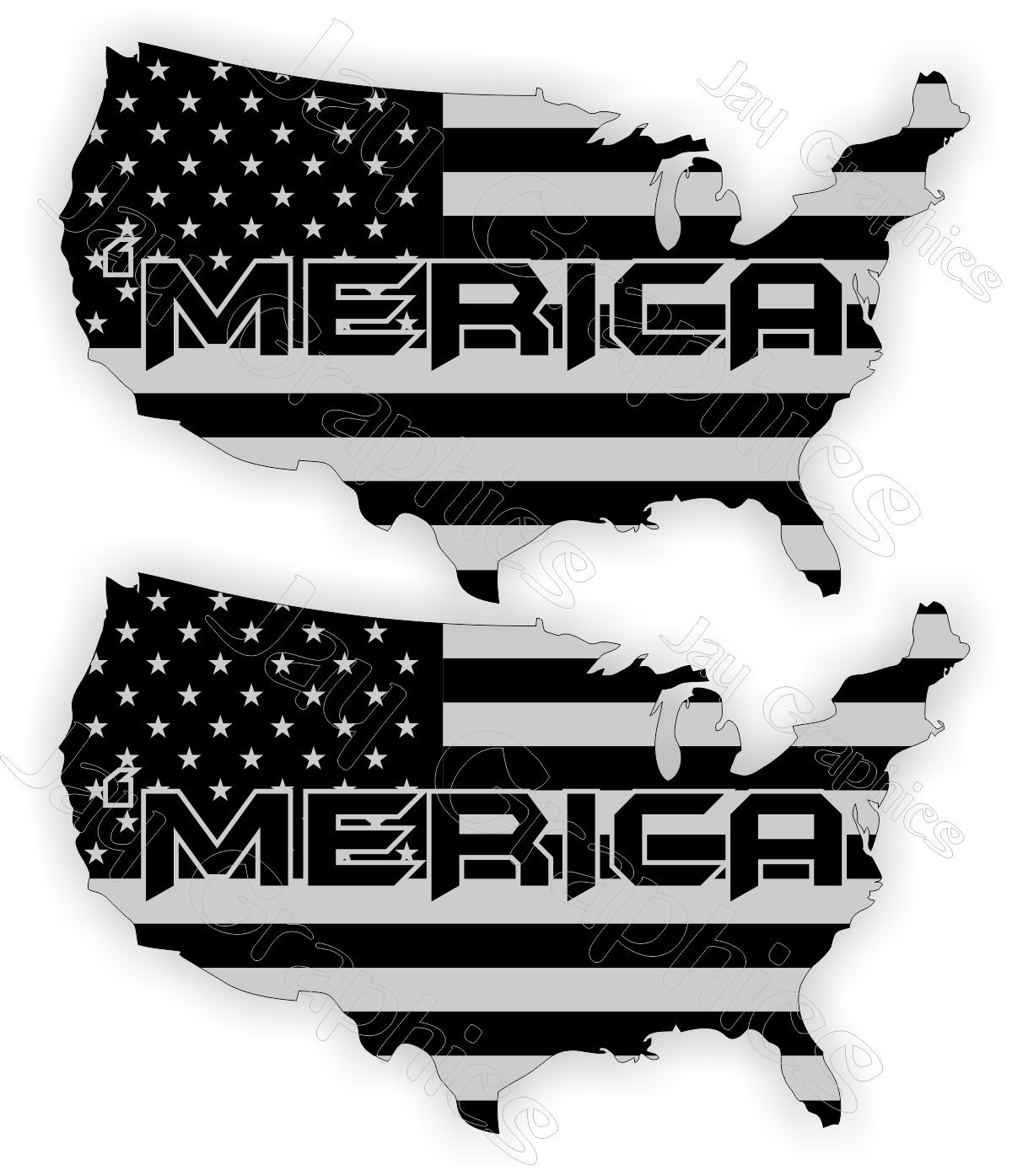 acd9feb8f16 Get Quotations · Pair ~ MERICA Flag Black Ops Vinyl Hard Hat Stickers