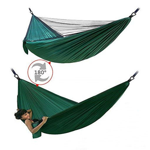 High Quality Lightweight Easy Setup Double Person Camping Hammock with Bug Mosquito Net