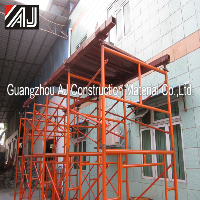 Safe steel formwork frame for construction