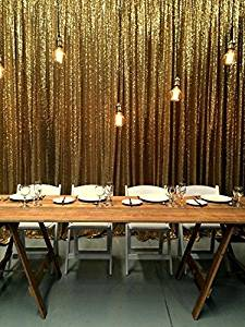 ShiDianYi 20FTX10FT Gold Sequin Photo Backdrop, Select Your Size,Wedding Photo Booth,Photography Background,Ceremony Background