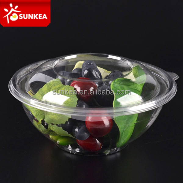 Wholesale plastic containers large transparent salad bowl for Small plastic fish bowls