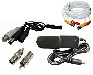DSC-Mic package, CCTV Tiny Audio Pick up device Spy Microphone , 25ft cable, Power Supply set