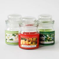Hot Selling Luxury Yankee Style Scented Natural Soy Wax Candle In Glass Jar
