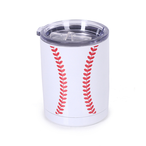 Wholesale Monogrammed 10oz stainless steel tumblers baseball sport cup