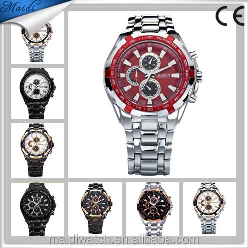 2018 nuevo curren hombres relojes de marca de lujo reloj militar de los  hombres de acero 41b05111e4bf