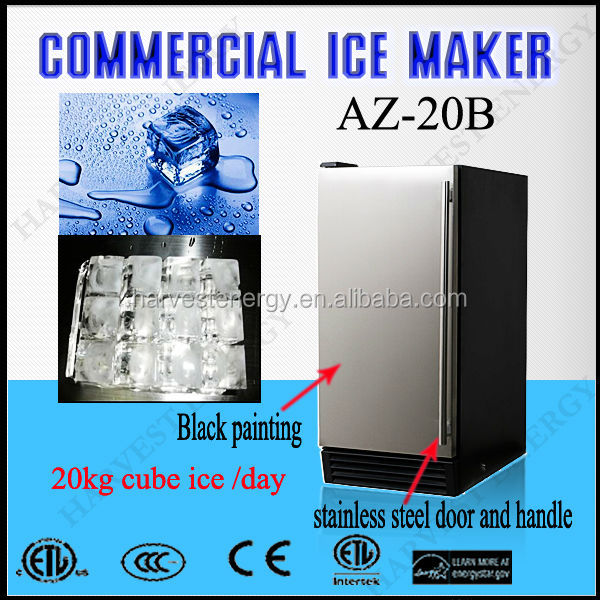 AZ 20B Outdoor Industrial Ice Cream Makers with 20kg/day