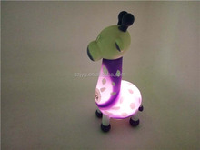 Custom Cute Animal Shape Purple Small LED Deer Light Bulk Plastic Deer Toy