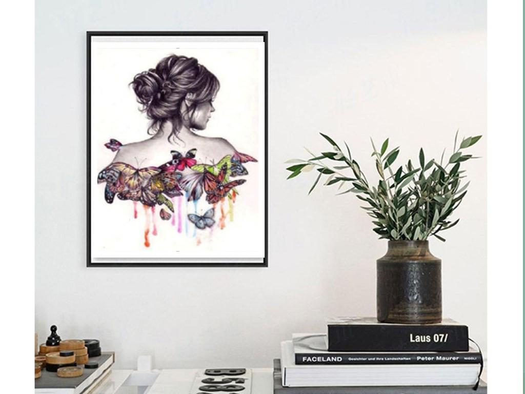 Beauty DIY 5D Diamond Painting Embroidery Lady Cross Stitch Home Decor craft