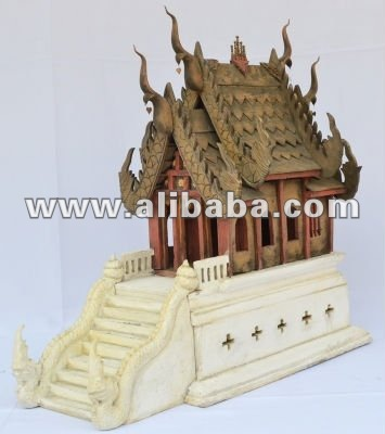 Wood carving Spirit house