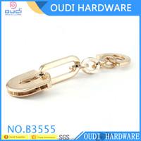 Long chain handbag accessories decoration zinc alloy leather bag accessories handle swivel hooks