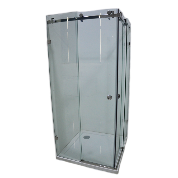 Angle Hinged Glass Frameless Shower Door LX-19011