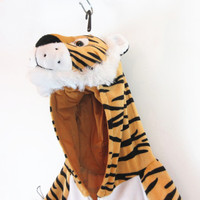 Customized halloween plush tiger costume suppliers wholesale