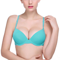 Hot Sale Women Bra Plunge Underwire Underwear Brassiere Sexy Solid Color Lingerie Seamless 2 Kinds Push