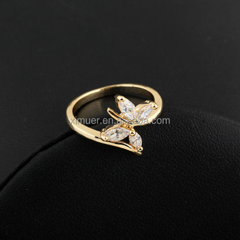 Designs Of Ring | Popular Latest Gold Crystal Butterfly Ring Design Buy Ring Designs