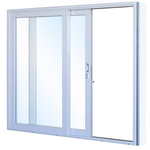 Commercial Double Aluminum Glass Frame Sliding Doors/high-grade Steel Security Door