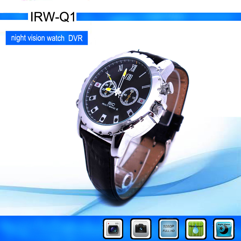 Pinhole Waterproof HD 1080P IR Night Vision watch mini dv Watch for sports camera