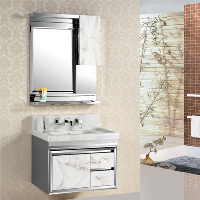 High Quality Bathroom Vanity: Ajl-8015 High Quality Abs White Metal Bathroom Vanity