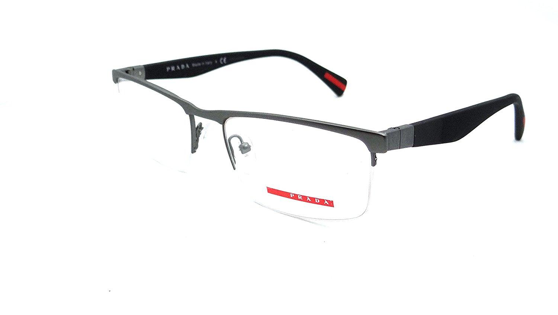 d45e94c68c8e Get Quotations · Prada Sport Rx Eyeglasses Frames Vpr 52f Ua3-1o1 54x18  Gunmetal Made In Italy