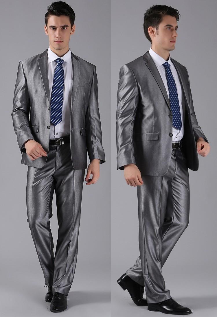 (Kurtki + Spodnie) 2016 Nowych Mężczyzna Garnitury Slim Fit Niestandardowe Garnitury Smokingi Marka Moda Bridegroon Biznes Suknia Ślubna Blazer H0285 28