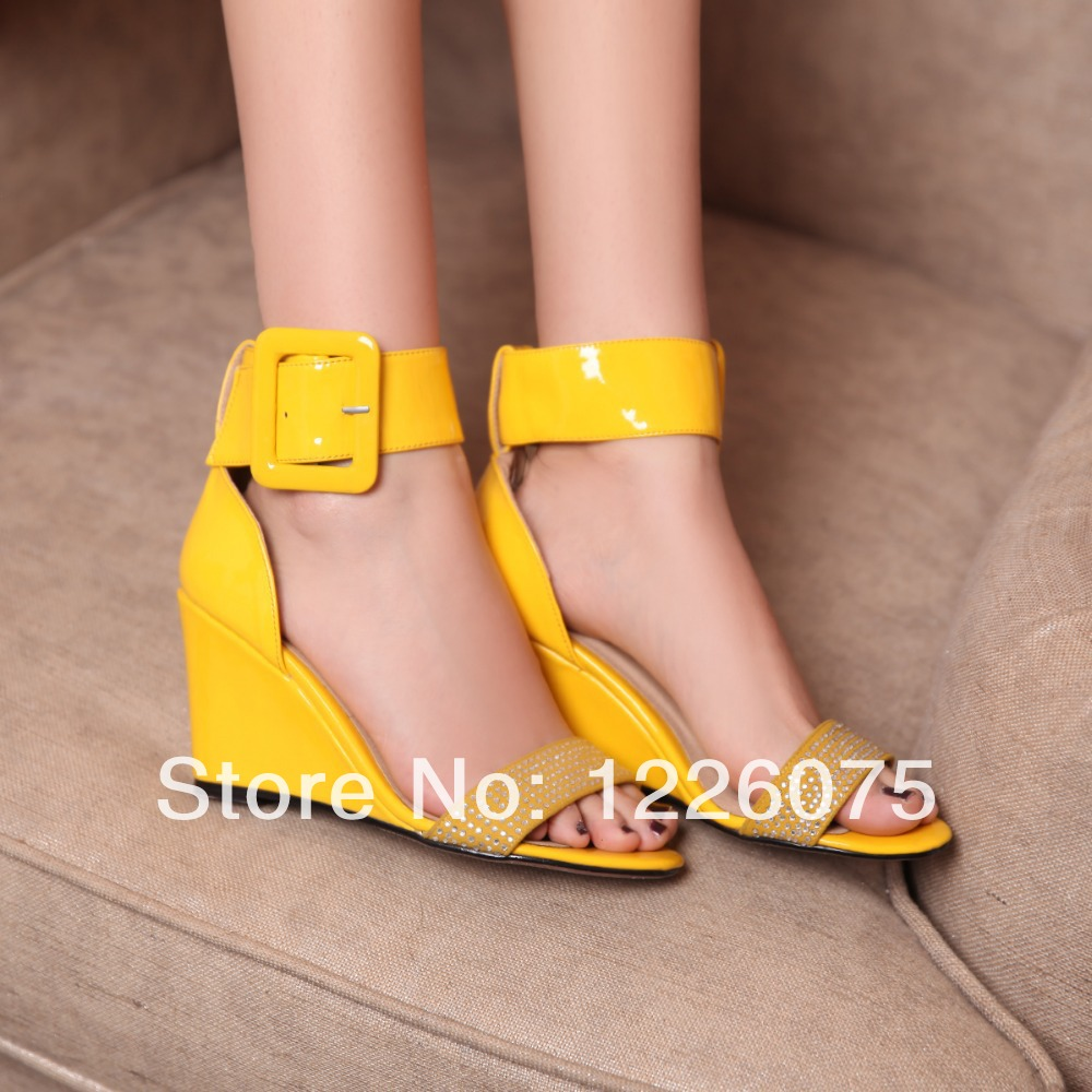 Yellow Patent Leather Shoes