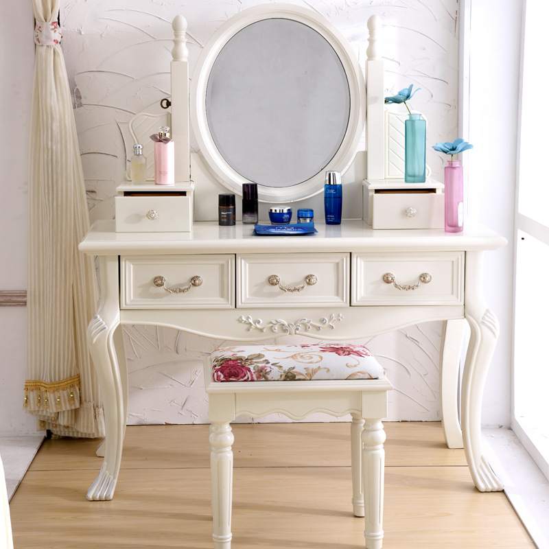 European Style Bedroom Ivory White French Dressing