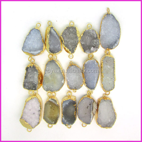 Jf8550 Wholesale Rainbow Plated Crystal Quartz Druzy Druzzy ...