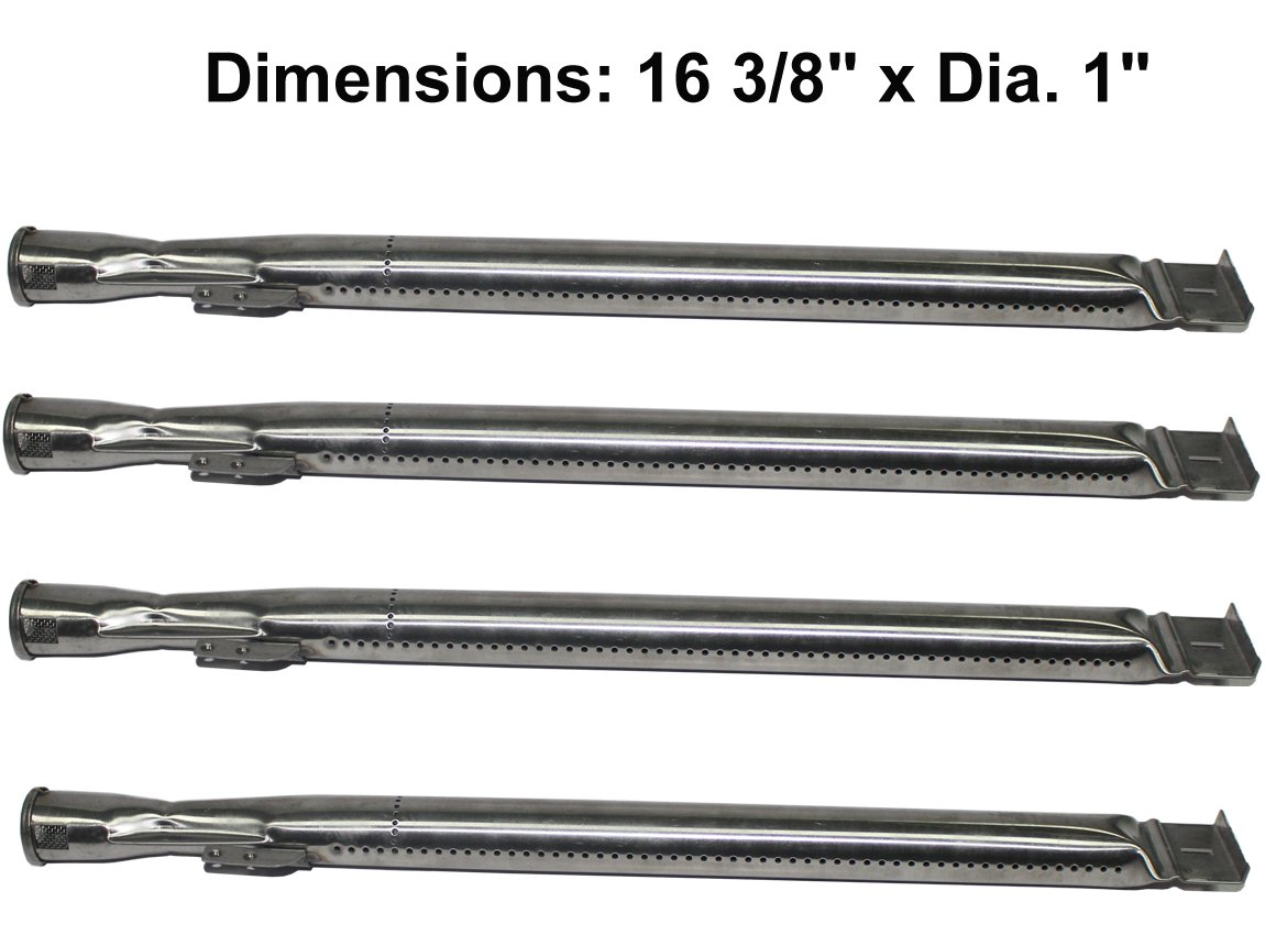 Stainless Steel Tube Burner Replacement (4-pack) for Master Forge MFA480BSP, MFA480GSN, MFA480GSP, MFA550CBP, Dyna-Glo DGB-730SNB-D, DGB730SNB-D, Backyard BGB390SNP, BGE530BSP.